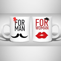 """For Man & Women"" Yazılı Kupa'in resmi"