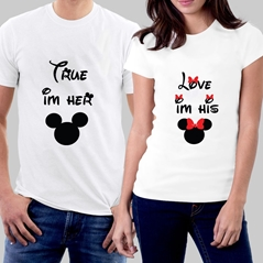 True Love Çift T-shirt'in resmi